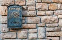 Classic Mailbox On Stone Wall,