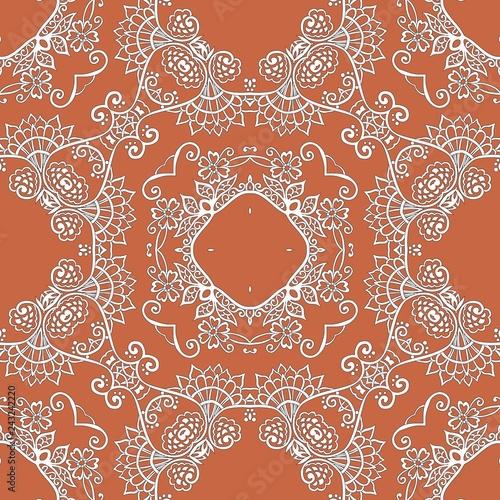 Fotografia, Obraz  Seamless lace ornamental pattern