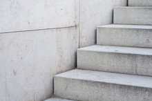 A Staircase Made Out Of Concrete