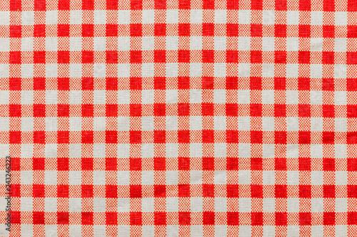 Obraz na plátně tissu Vichy à carreaux rouges
