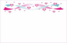 Pink Blue Ribbon Hearts To Val...