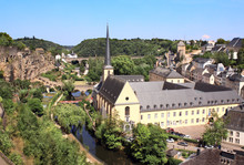Aerial View On Luxembourg City