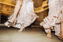 Dances Party Women Dresses High Heels Club