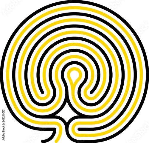 Spoed Foto op Canvas Psychedelic Theilheim, maze, Germany
