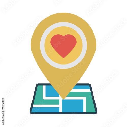Fotografie, Obraz  location   map   wedding