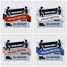 Moving Services Company Logo D...