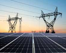 Pylon And Photovoltaic Panels