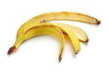 Banana Peel, Isolated On White Background