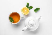 Teapot, Cup Of Hot Beverage, L...