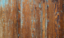 Old Wooden Background With Blu...