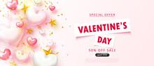 Valentine's Day Sale Backgroun...