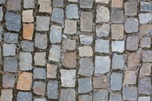Wet Cobbled Stone Sidewalk Aft...