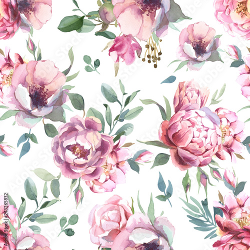 watercolor-seamless-pattern-of-peony-and-blosom-flowers-on-white-background-for-wedding-i