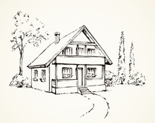 Vector Drawing. House