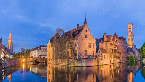 Wall Murals Bridges Brugge cityscape - Belgium