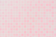 White Or Pink Ceramic Wall And Floor Tiles Abstract Background.