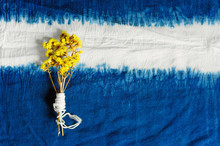 Blue Indigo Dyed Cotton Decora...
