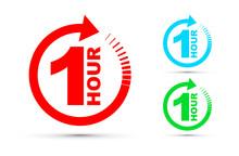 One Hour Arrow Icon Set