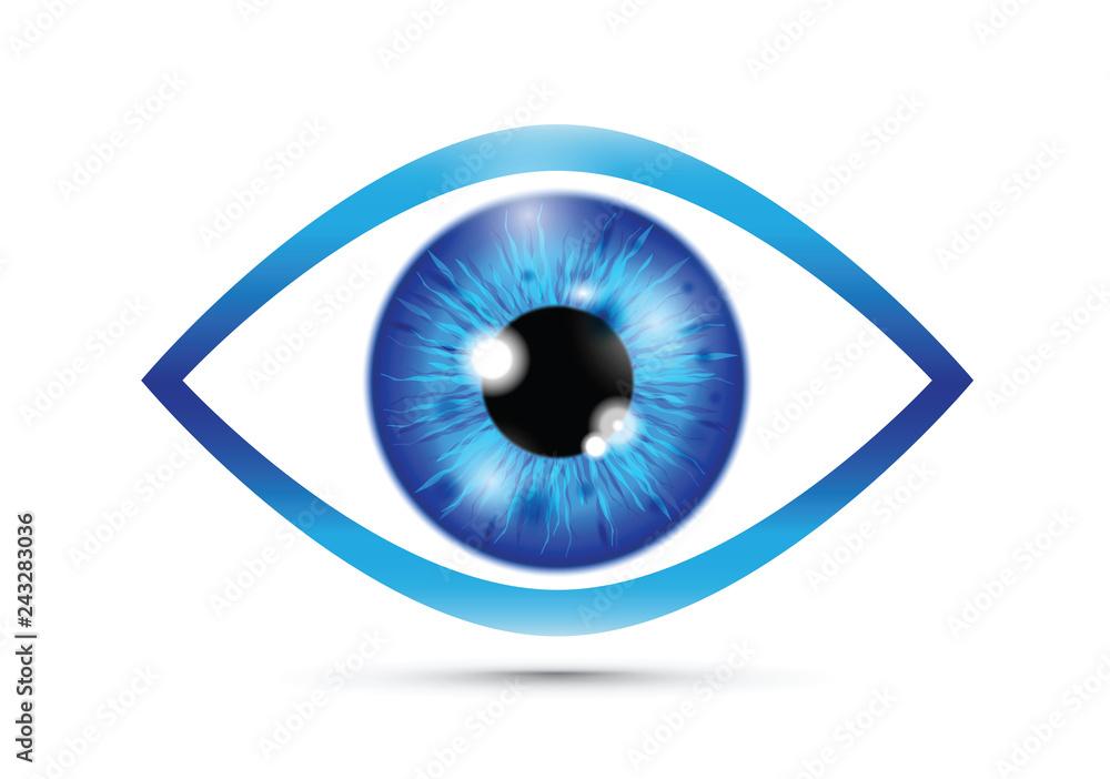 Fototapeta blue Realistic eyeball