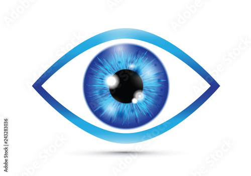 Fotografia blue Realistic eyeball