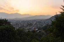 Sunset View At Kathmandu Valley From Swayambhunath.