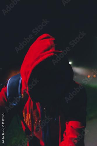 Fotografía  Unidentified Person in Sportswear with a Hood