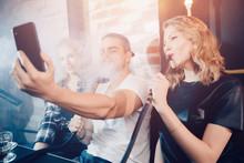 Smoke Hookah Shisha In Bar And...