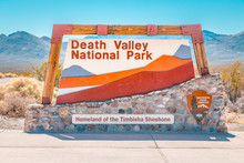 Death Valley National Park Entrance Sign, California, USA