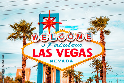 Photo sur Toile Las Vegas Welcome to Fabulous Las Vegas sign, Las Vegas Strip, Nevada, USA