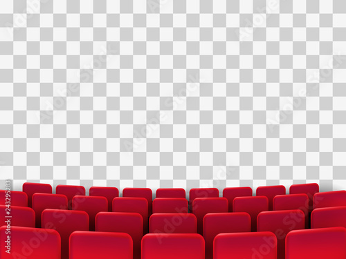 Fotomural  Cinema seats isolated