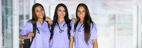 Fototapeta Three Nursing Students