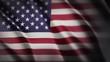 Wavering flag of USA. American flag for national celebration. Animated background.