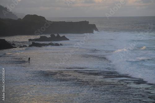 Fotografía  Waves in a ocean swim to shore