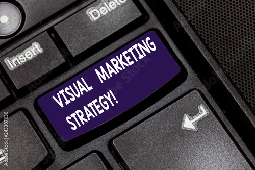 Fotografía  Writing note showing Visual Marketing Strategy
