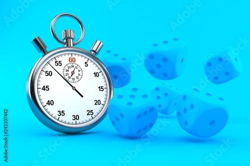 фотография  Gambling background with stopwatch