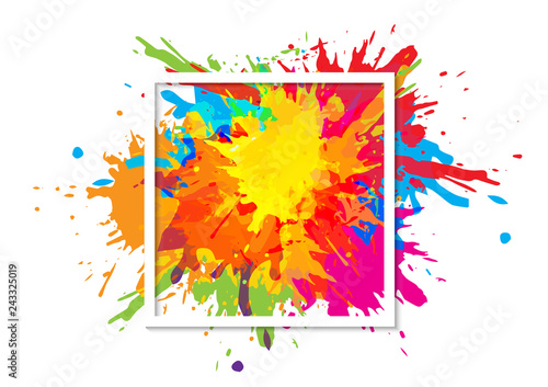 abstract splatter art paint texture background design. illustration vector design background