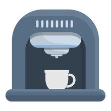 Coffee Maker Device Icon. Cartoon Of Coffee Maker Device Vector Icon For Web Design Isolated On White Background