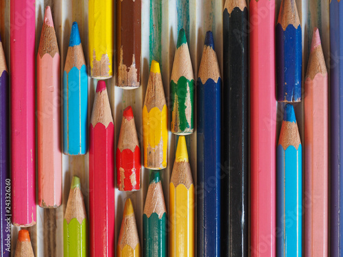 Fotografía  many colour pencils