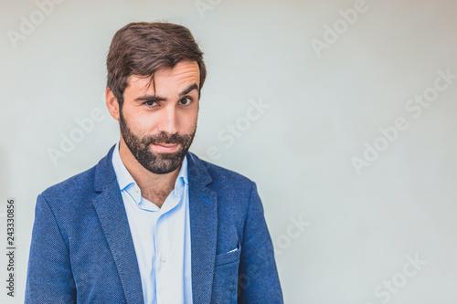 Fotografie, Obraz  Business partner in a blue jacket