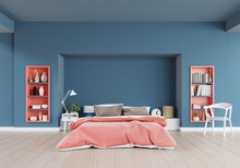 Living Coral Color Bedroom Of ...