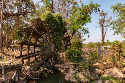 Fotografie, Obraz  Li Phi Falls, 4000 Islands, Mekong River, Laos