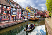 Colmar, France. Boat With Tour...