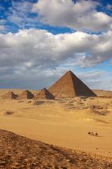 pyramids in giza cairo egypt