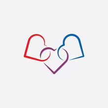Heart Link Icon Symbol Illustration Vector
