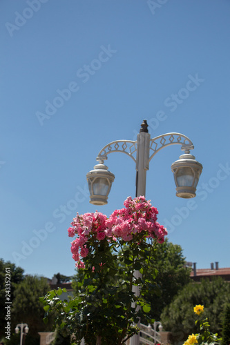 Photo Stands Vienna Old retro electric street lamps made of metal style