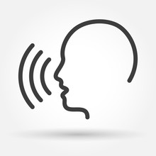 Voice Control Icon. Speak Or T...
