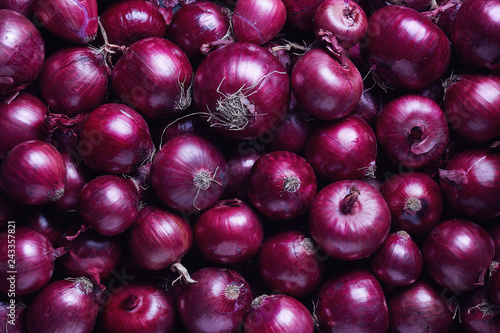 Full Frame Shot Of Purple Onions