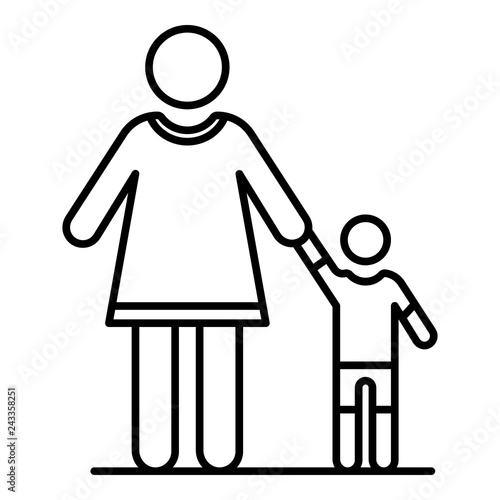 Fotografie, Obraz  Grandmother with nephew icon