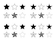 Stars Vector Icons Set Flat Si...