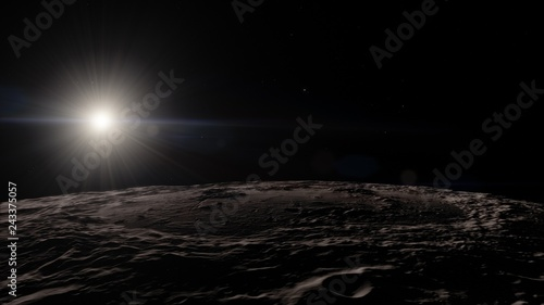 Foto op Canvas Heelal Moon in outer space, Surface. High quality, resolution, 4k. This image elements provided by NASA.